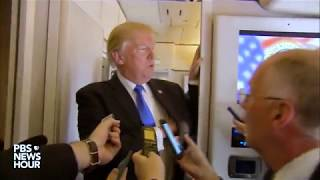 WATCH: President Trump speaks to reporters on his way home from Asia trip