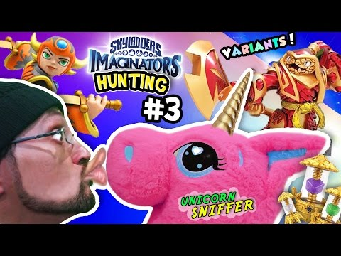 UNICORN KISSER SNIFFER! Skylanders Imaginators Hunting Part 3! Black Friday Variants Toy Shopping!