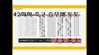 축구 승무패 토토 42회차 최종픽 공유 - 스포츠토토,…