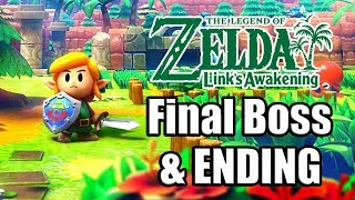 The Legend of Zelda: Link's Awakening Remake (2019) Final Boss, ENDING, & Credits | Switch Gameplay