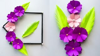 Simple and beautiful Paper flower wall hanging / Diy paper flower wall hanging / Easy Home decor