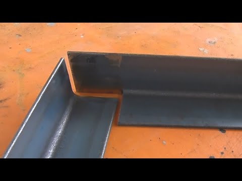 Joining Angle Iron at 90 Degrees using an easy Cope Joint. Preparation for Welding.
