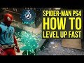 Spider Man PS4 How To Level Up Fast - FAST XP (Spiderman PS4 Tips And Tricks)
