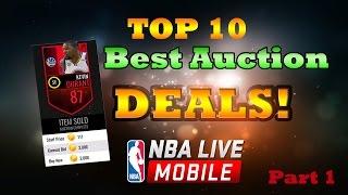 Top 10 Best Auction Deals | Nba Live Mobile #1