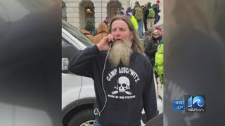 Capitol rioter in 'Camp Auschwitz' sweatshirt identified as Hampton Roads man