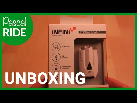 INFINI LAVA I-260W Rechargeable Front Light - UNBOXING