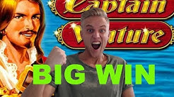 Captain Venture BIG WIN - 10€ bet - Online Slots - Casino Games from LIVE Stream