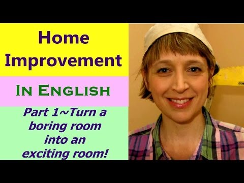 Learn English Conversation Online Teacher~Home Improvement~DIY part 1