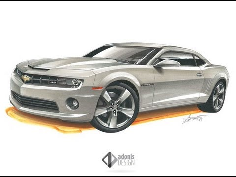 Chevrolet Camaro SS drawing by Adonis Alcici - YouTube