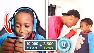 Kid Buys 10,000 V Bucks On Brother's Credit Card (Fortnite)