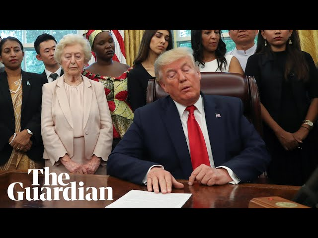 Awkward exchanges as Trump meets with religious persecution survivors
