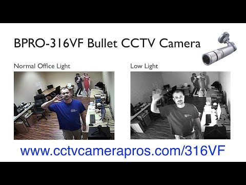 BPRO-316VF Varifocal Bullet CCTV Camera Demo Surveillance Video