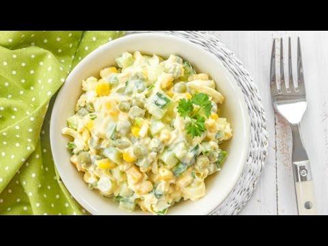 Салат с кукурузой и зеленым горошком