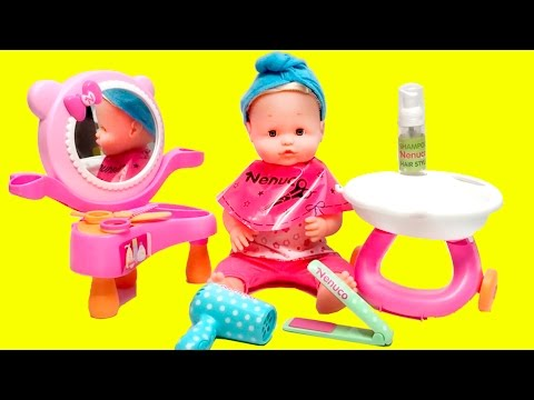 Toy Hairdresser Saloon Nenuco Salón de Peluquería Nenuco Baby Doll Hair Cut Toy Videos