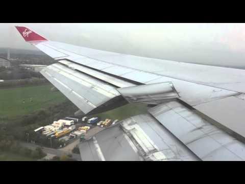Virgin Atlantic Boeing 747-400 go around London Heathrow