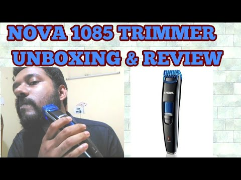 NOVA NHT 1085 Professional Trimmer Unboxing & Review
