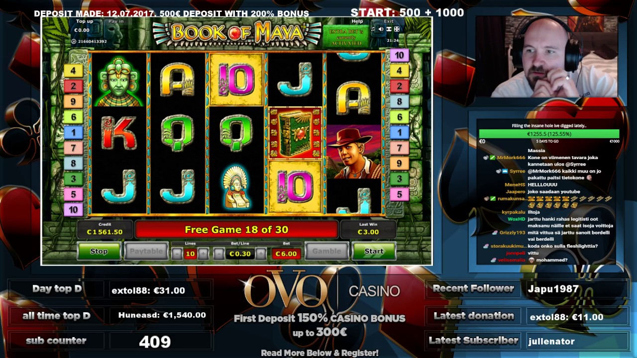ovo casino book of maya