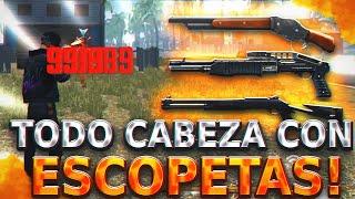COMO LEVANTAR MIRA CON M1014 Y M1887 (Fácil y Rápido) TODO CABEZA! FREE FIRE