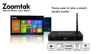 Zoomtak T8 plus 4K Amlogic S812 Android TV Box Dual-band WiFi Giga Lan