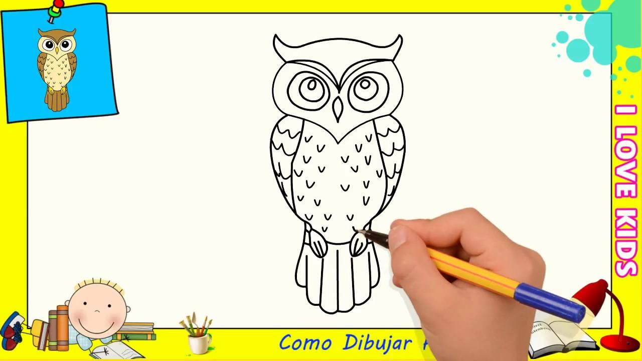 Dibujos De Buhos Faciles Paso A Paso Para Niños Como Dibujar Un