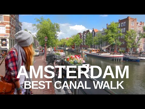 [4K] AMSTERDAM WALKING TOUR - Best Canal (Brouwersgracht) To