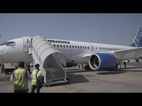 C Series Aircraft Stops in New Delhi during its World Tour