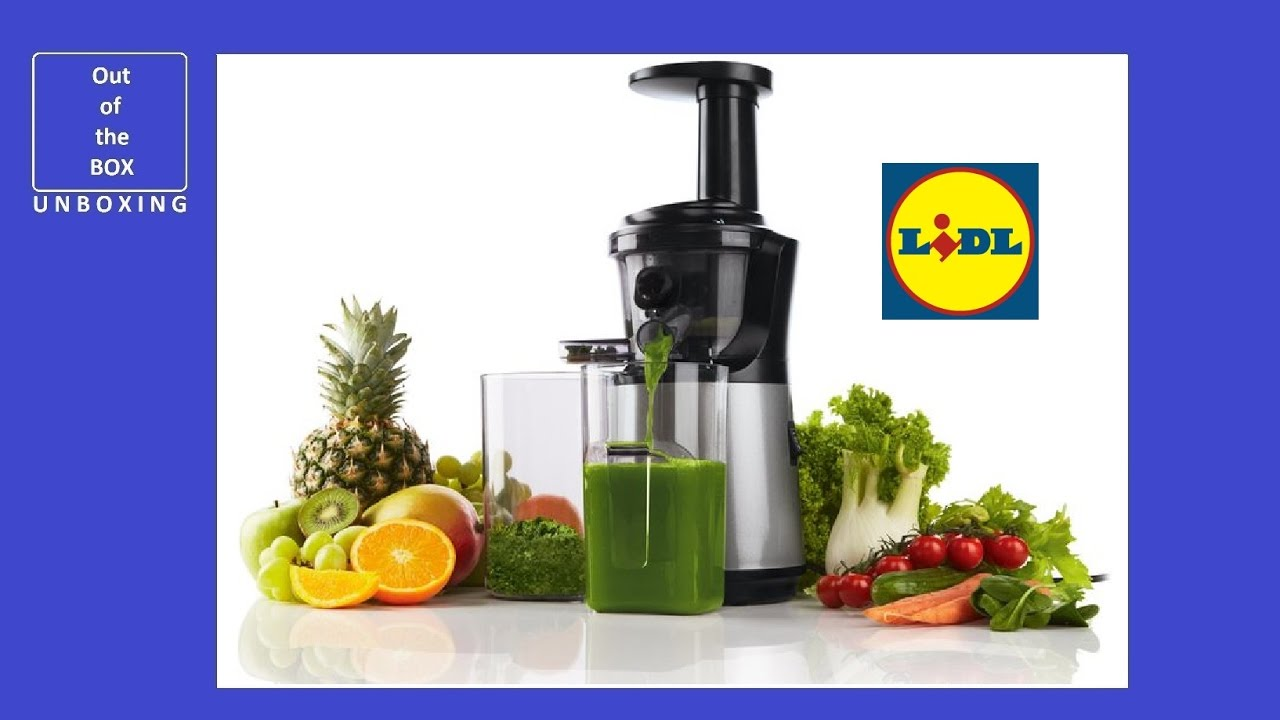Centrifugeuse Lidl Silvercrest Slow Juicer Ssj 150 A1 Unboxing Lidl 150w Speed Approx 60 Min