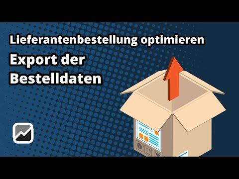 tricoma - Export einer Lieferantenbestellung