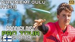 Oulu Prodigy Disc Pro Tour 2019, R1B9, Lehtinen, Mäkelä, Vikström, Turpeinen, FINNISH COMMENTARY, 4K