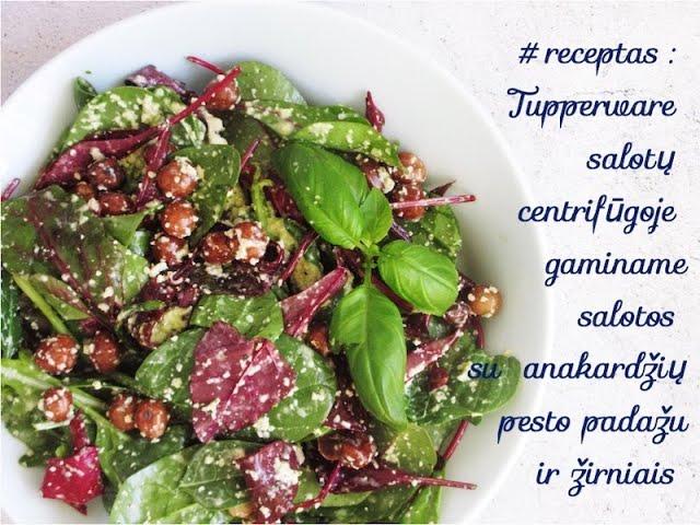 #receptas -Tupperware salotų centrifūgoje salotos, anakardžių pesto žirnių salotos /Vegan Pipiras