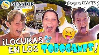 💦 ¡¡LOCURAS en los TOBOGANES de agua!! GRABAMOS con la GoPRO + DANIELA actúa como la Sirenita 💃🏼 thumbnail
