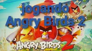 Jogando Angry Birds 2 e tutorial de introdução