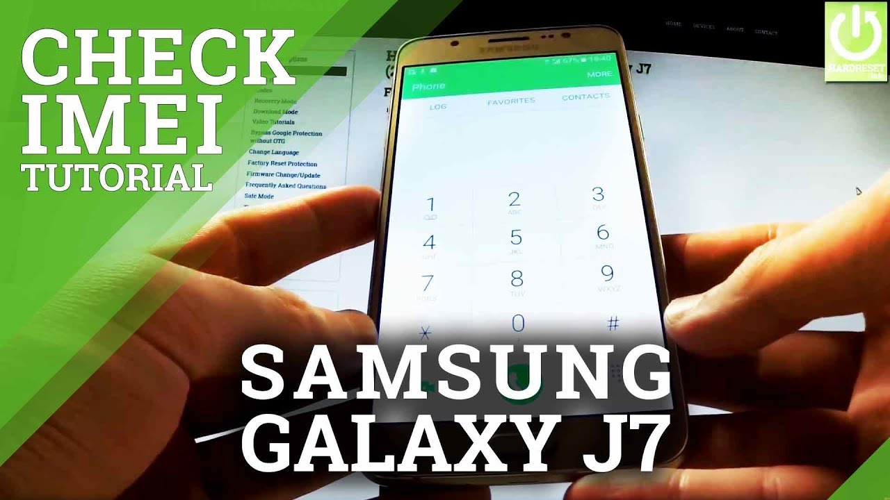 How to Check IMEI Number in SAMSUNG Galaxy J7 Prime - HardReset info