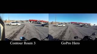 contour Roam 3 vs  GoProHero 1080p 30fps
