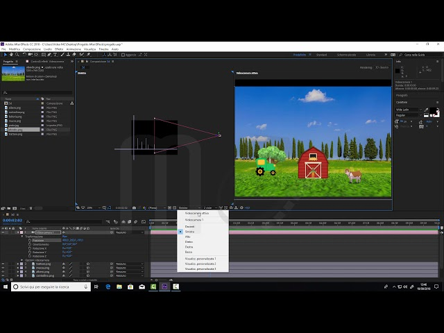 Adobe After Effects CC2018 - Ambiente 3D - La videocamera ad un nodo