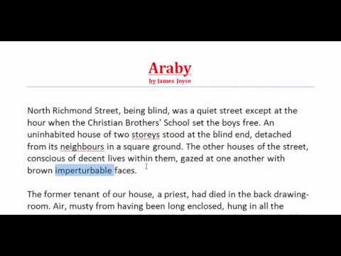 what is araby by james joyce about