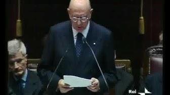 L'insediamento del Presidente Napolitano