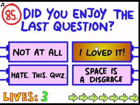 The Impossible Quiz -- Level 81-90 Walkthrough