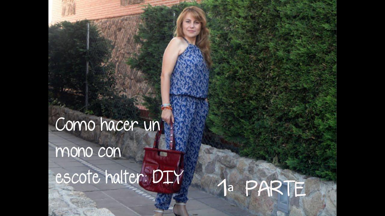patrón Un Con Escote Gratis Como Pantalón Mono Hacer Halter ZqwCSxg7