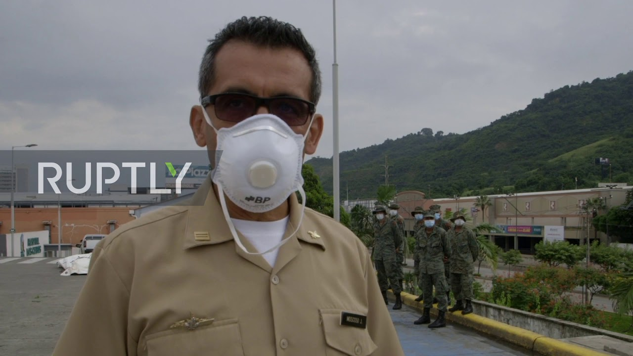Ecuador: Military sets up mobile hospital for COVID-19 patients in Guayaquil