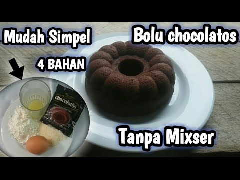 Bolu Chocolatos 4 Bahan Simpel