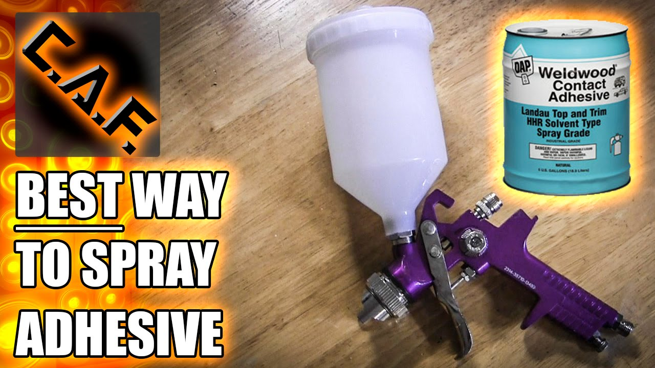 How to Spray Contact Adhesive