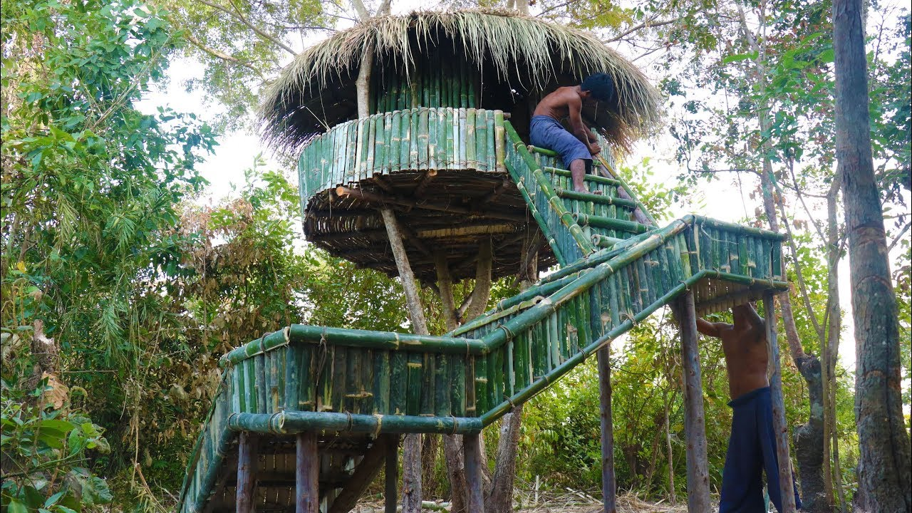 Make Ladders To Tree Hut