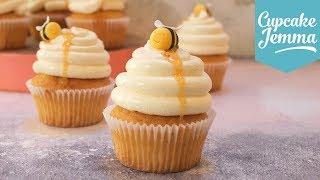 Beehive Cupcakes! Honey, Yoghurt & Rosemary Full Recipe | Cupcake Jemma