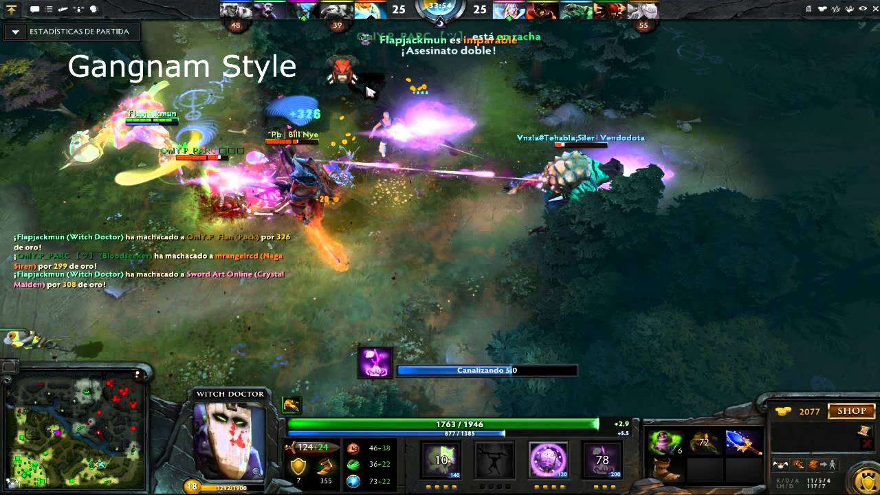 dota 2 witch doctor rampage 1vs5 youtube