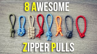 8 Awesome Paracord Zipper Pulls | Easy Zipper Pull Ideas