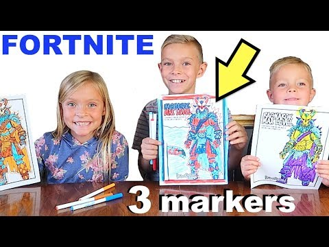 FORTNITE 3 Marker Challenge | Dyches Fam