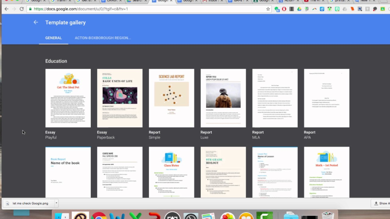 How to use Google Docs Templates - YouTube