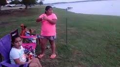 Family at Sun Rise Beach Mathis Texas