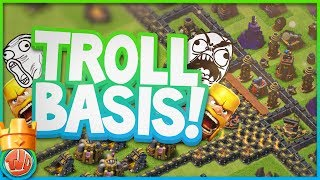 TROLL BASIS AANVALLEN!! - Clash of Clans
